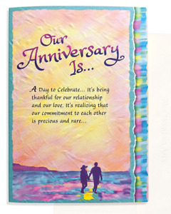 Blue Mountain Greeting Card: Our Anniversary Is…