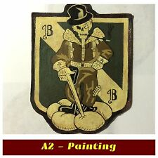 WW2 Hand Painted 5th Bomb Grp Leather Patch For A2 G1 Jacket ( Aged Effect )