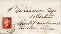 1864 Sg 43 1d rose-red 'SF' Plate 84 with 858 Wellingboro' Cancellation on Cover
