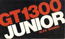 Alfa Romeo Giulia 1300 GT Junior 1971-72 UK Market Foldout Sales Brochure