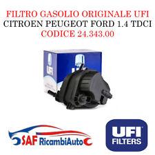 FILTRO GASOLIO UFI 24.343.00 CITROEN PEUGEOT FORD FIESTA V 1.4 TDCI