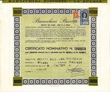 1967 LA SPEZIA * BARACCHINI BISCOTTI * RINOMATA FABBRICA * AZIONE DOC