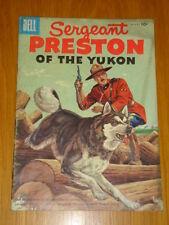 SERGEANT PRESTON OF THE YUKON #18 VG (4.0) 1956 DELL WESTERN COMIC C