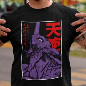 T-shirt Neon Genesis Evangelion Shinj Asuka Eva Unit 01 Anime Mecha 90s Japan