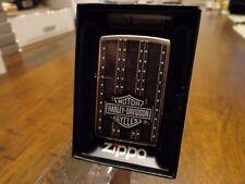 HARLEY DAVIDSON SADDLEBAGS DESIGN ZIPPO LIGHTER MINT IN BOX