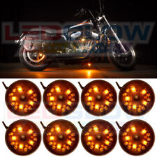 8PC LEDGLOW ORANGE POD SMD LED MOTORCYCLE UNDERGLOW NEON LIGHTS LIGHTING KIT