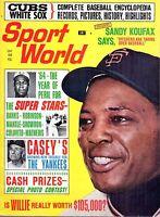 1964 (Jun) Sport World, Baseball magazine, Willie Mays, San Francisco Giants~VG