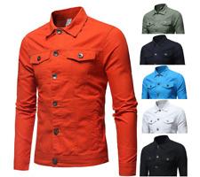 Men's Denim Slim Fit Jacket Coats Casual Outwear Button Denim Jean Coats Jackets