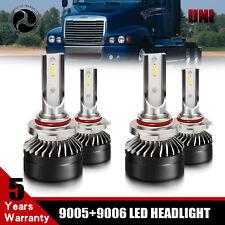 9005 9006 Hi/Low Beam LED Headlight Bulb Kit For Freightliner Columbia 1996-2015