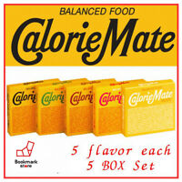 Calorie Mate Balanced Food 5 flavor 5 BOX Fruit,Chocolate,Cheese,Maple,Plain