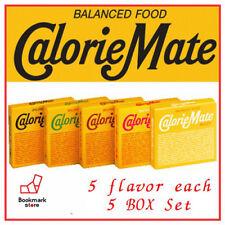 Calorie Mate Balanced Food 5 flavor 5 BOX Fruit,Chocolate,Cheese,Maple,Plain