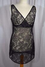 Black lace negligee size 12