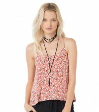 O'Neill ELIANA Womens Spaghetti Strap Tank Top Size Small Red Floral NEW 2017
