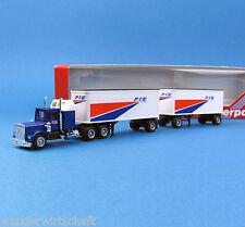 Herpa H0 850009 KENWORTH CON Roadtrain Sattel-Hänger-Zug P.I.E. US Truck HO 1:87