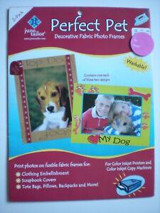 "June Tailor ""Perfect Pet""  Decorative Fabric Photo Frames 2 pk JT-868"