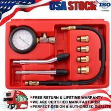 0-300 PSI Automotive Tool Gauge Petrol Engine Cylinder Compression Tester Kit US