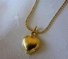 14k Gold Filled Heart shape simple Pendant Women's Necklace -L 45cm
