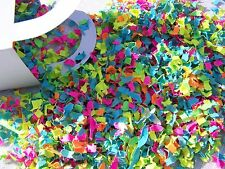 Shades of neon confetti 2 cups shower party birthday Trolls baby toddler
