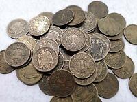 Lote 10 monedas de 1 peseta de 1944 XF+ a F-