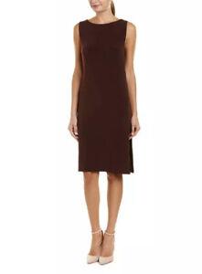 Velvet By Graham & Spencer Leia Sleeveless Sheath Midi Dress Cutouts Medium NWT