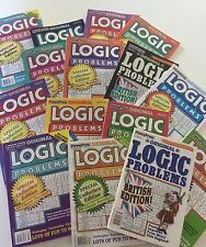 Lot of 5 Logic Problems Penny Press Dell Variety FAST SHIP $24.95 retail
