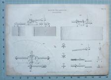 1847 ENGINEERING PRINT MACHINE FOR DRESSING MILLSTONES