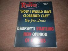 The Ring Boxing Magazine Cassius Clay Muhammad Ali February 1967 Joe Louis