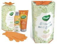 Radox Duo Set Shower & Shine Gift Pack With Exfoliating Gloves X-Mas Ideal Gift