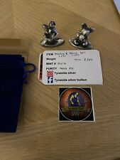 More details for 2.365 ounce oz - mickey and minnie  - hand poured bullion (999 fine silver) coa