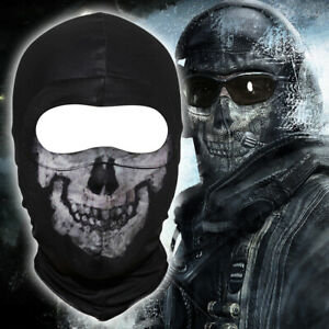 Fabric COD Ghost Face Mask Balaclava Winter Helmet Skull Halloween Prop Cosplay