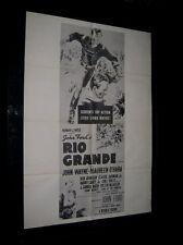Original VIETNAM ERA 1960s Military Theatre Poster JOHN WAYNE RIO GRANDE