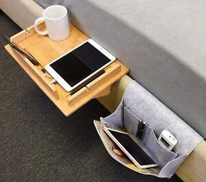 Tirrinia Bedside Shelf Table & Storage Organizer Caddy for Beds Kids Nightstand