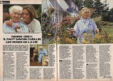 Coupure de presse Clipping 1987 Denise Grey    (2 pages) ) à l'ile aux moines