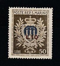 FRANCOBOLLI 1946 SAN MARINO ASSISTENZA SOPRASTAMPATO L. 10 SU 50 MNH Z/5652