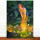 "Edward Robert Hughes, Midsummer's Night Fairy ~ FINE ART CANVAS PRINT 18x12"""