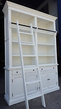 NEW FRENCH PROVINCIAL LIBRARY BOOKCASE SHELF DISPLAY CABINET & LADDER - WCB036