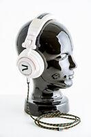 7even Headphone white / rasta / reggae Freizeit-Kopfhörer mit Reggae-Textilkabel