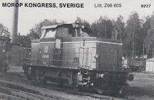 AK UNREAD Morop Congress Sweden litt. Z66 605 Baden Model järnvägs (G2575)