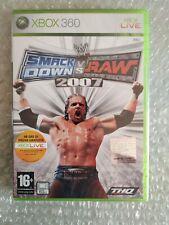 SMACKDOWN VS RAW 2007 XBOX 360 NEW PAL IT NUEVO RARE MICROSOFT