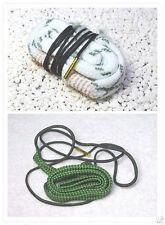 Bore green Snake for .22 .223 & Bore White Snake 12GA Caliber Cleaning Cleaner