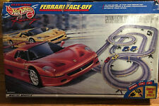 Ferrari Face-Off Hot Wheels F50 TYCO Hi Banked Curve HO Slot Car Set