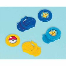 POKEMON Sun and Moon MINI DISC SHOOTERS (12) ~ Birthday Party Supplies Plastic