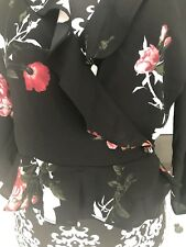 miss selfridge Flowered 🌹🌷Wrap Top Size 12 Was £28.00