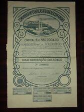 Portugal Titles of Shares, Companhia das Fabricas de garrafas na Amora 1920