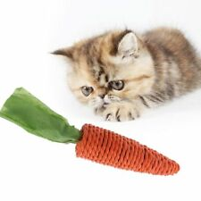 Pet Cat Funny Scratch Toy Straw Carrot For Hamster Guinea Rabbit Rat Chew Toy