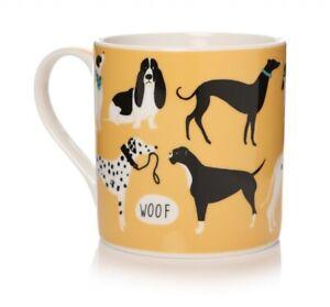 Lisa Buckridge Dogs Life Design Mustard Bone China Mug