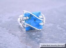 Sterling Silver Wire Wrapped Turquoise Ring