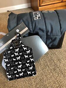 Friends Forever Fleece water resistant gray dog coat NEW