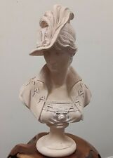 """Vintage Porcelain Bisque French Maiden Woman Beauty BUST Head 8"""" statue"""