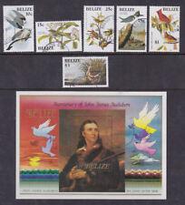 Belize 1985 Used FU Minisheet John James Audubon Nature Birds Paintings Bunting
